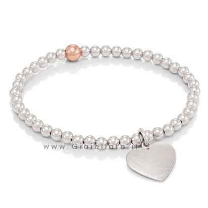 bracciale nomination in argento collezione elba cuore 142512/001