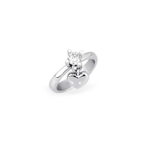 anello 2jewels donna smack acciaio e cristallo misura 15