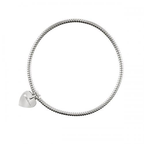 Bracciale con ciondolo cuore Salvini in oro bianco e diamante MINIMAL POP 20070057