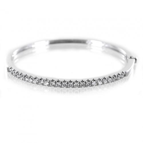 Visualizza offerta: gioielli valenza bracciale rigido in oro bianco e diamanti gioielli valenza