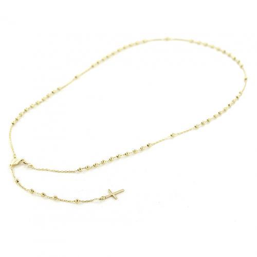 Girocollo rosario in oro giallo con Madonna Miracolosa