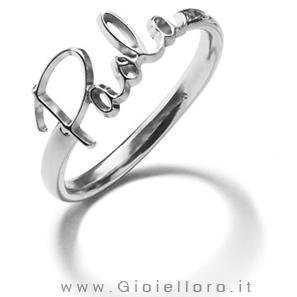 Anello in argento con personalizzazione del Nome paola - VAI Milano Ego You