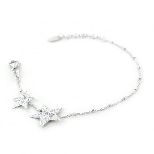 bracciale con stelle in argento collezione shiny