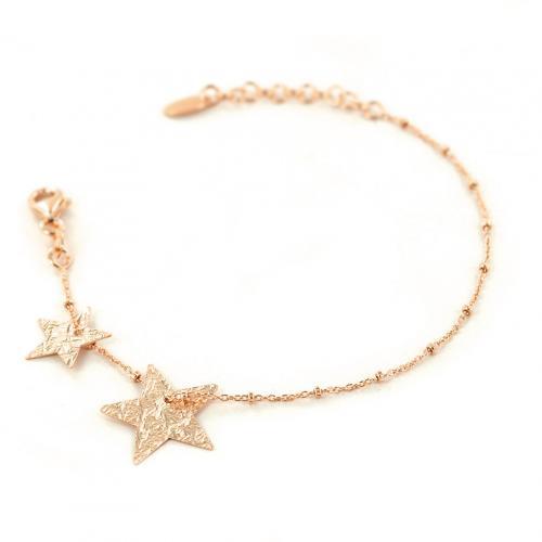 bracciale con stelle in argento rose' collezione shiny