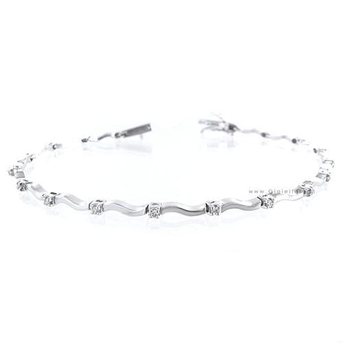 Visualizza offerta: gioielli valenza bracciale tennis fantasia in oro bianco e diamanti ct 0.22 g