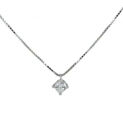 gioielloro collana con ciondolo punto luce diamante 0.33 g vs