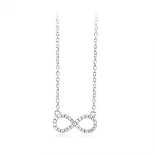 mabina collana donna mabina in argento con ciondolo infinito e zirconi 553109