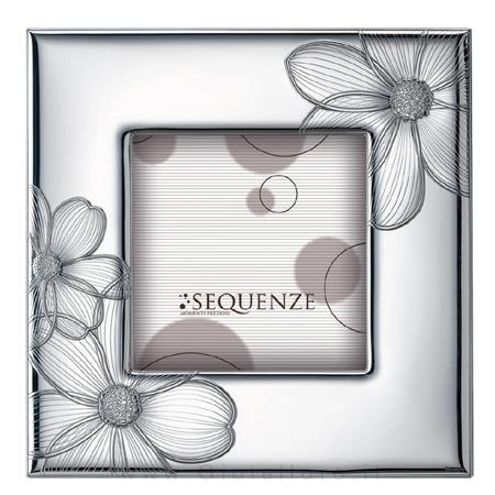argenteria val di pesa cornice portafoto in argento modello honey 13x13 cm