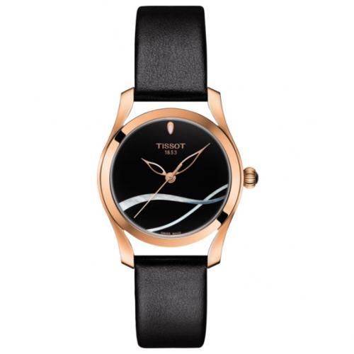 tissot orologio tissot da donna t-wave rosa in pelle t112.210.36.051.00