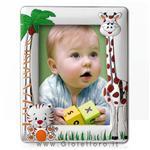 Cornice portafoto da bambino con Tigre e Giraffa in Argento foto 13X18 cm - gallery