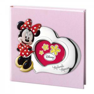 ALBUM PORTAFOTO CON INSERTO IN ARGENTO MINNIE MOUSE 30X30 CM - gallery