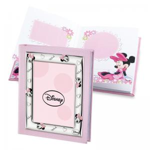 ALBUM PORTAFOTO CON INSERTO IN ARGENTO MINNIE MOUSE 20X25 CM - gallery