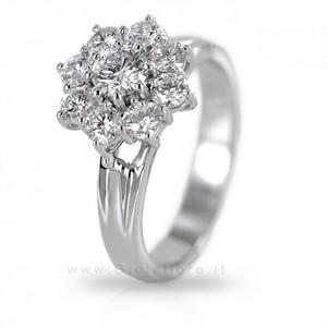 Anello Fiore Marilyn con diamanti carati 1,00 - gallery