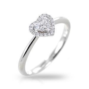 Anello fantasia cuore con contorno di Diamanti Gioielli Valenza - gallery