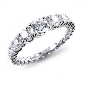 Anello fede Eternity in oro e Diamanti Dluce collezione Grace - gallery