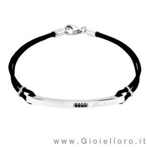 Bracciale Nuvolari Salvini Uomo in argento e Diamanti 20047500 - gallery