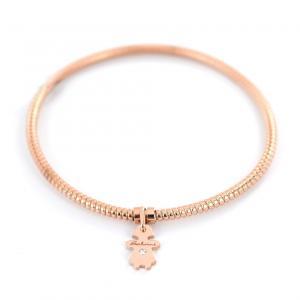 Bracciale con ciondolo bambina Salvini in oro rosa e diamante MINIMAL POP 20073382 - gallery