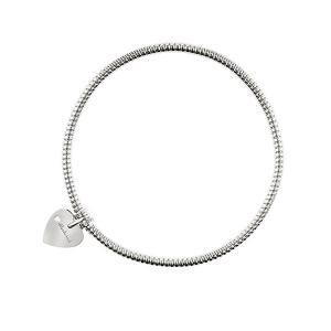 Bracciale con ciondolo cuore Salvini in oro bianco e diamante MINIMAL POP 20070057 - gallery