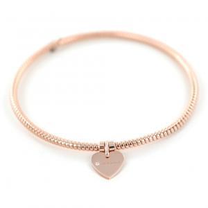 Bracciale con ciondolo cuore Salvini in oro rosa e diamante MINIMAL POP 20070059 - gallery