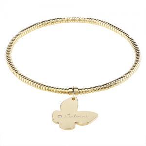 Bracciale con ciondolo farfalla Salvini in oro giallo e diamante MINIMAL POP EXT - gallery