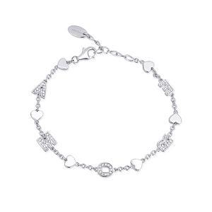 Bracciale da donna Mabina in argento con charms Amore - gallery
