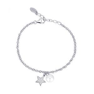 Bracciale da donna Mabina in argento con perla e charm stella - gallery