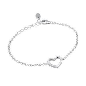 Bracciale in argento Cuore con zirconi - gallery