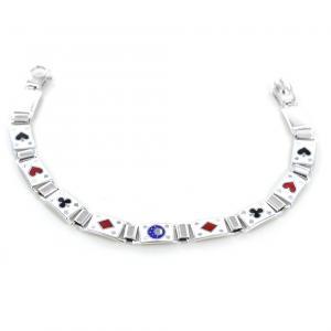 Bracciale in argento Poker con smalti - Bracciale Gioco - gallery