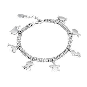 Bracciale in argento con charms mare - gallery
