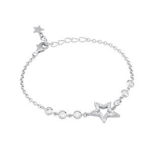 Bracciale in argento stella con zirconi - gallery