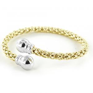 Bracciale semirigido in argento dorato Jessica Jewels - gallery