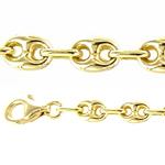 Catena in oro giallo 18 kt maglia marina da Uomo - 60 cm - gallery