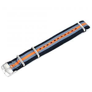 Cinturino NATO STRAPS nero grigio e arancio ansa 20 mm - gallery