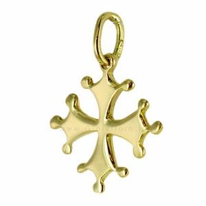 Ciondolo Croce Pisa in oro giallo 18 kt - gallery