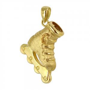 Ciondolo Pattino in oro giallo con collana - gallery