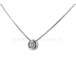 Collana Punto Luce Cipollina con diamante ct 0.10 G VS Gioielli Marilyn - gallery