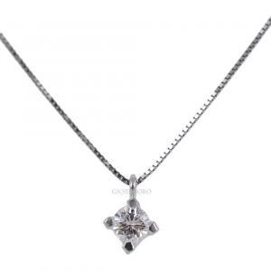 Collana con ciondolo Diamante punto luce carati 0.25 G VS - gallery