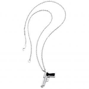 Collana con ciondolo Pistola Zancan collezione Legittima Difesa EXC320 - gallery