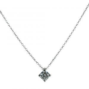 Collana con ciondolo punto luce in oro con diamante 0.29 G VS - gallery