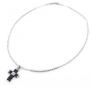 Collana da uomo Zancan in acciaio con pendente Croce in ceramica HITECK EHC123 - gallery