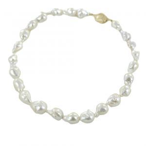 Collana di perle barocche con chiusura a pepita - gallery