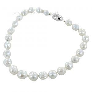 Collana di perle barocche con chiusura con zirconi - gallery