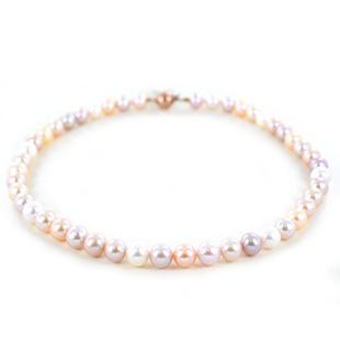 Collana di perle multicolor 9.00 - 9.50 mm Filo di perle freshwater - gallery
