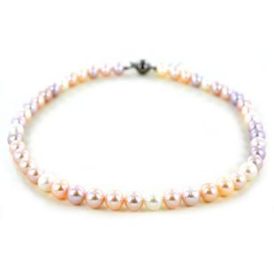 Collana filo di perle di Acqua Dolce 9.00 - 9.50 mm Perle Multicolor - gallery