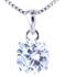 Collana con pendente in argento punto luce con zircone - gallery