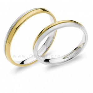 Fede Comete Gioielli Paolo e Francesca in oro bianco e giallo ANB1871BG - gallery