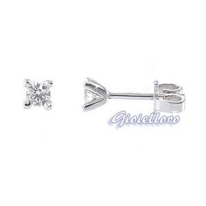 Orecchini Punto Luce con Diamanti ct. 0.20 colore G  - gallery
