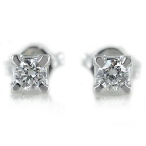 Orecchini Punto Luce medi in oro e diamanti ct. 0.30 G VS - gallery