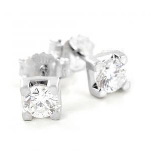 Orecchini Punto luce grandi in oro e diamanti oltre mezzo carato - gallery