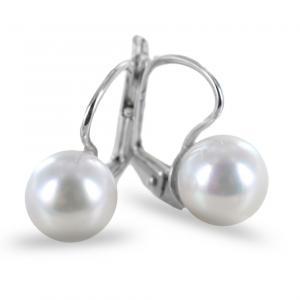 Orecchini con perle Akoya di diametro 8.00 - 8.50 mm - gallery